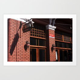 Red Brick Wall... Art Print