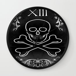 XIII SKULL Wall Clock
