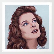 Katharine Hepburn Art Print