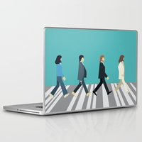 downton abbey Laptop & iPad Skins featuring The tiny Abbey Road by Victor Trovo Afonso