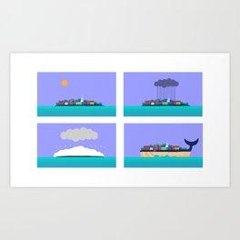 Eastport weather Art Print