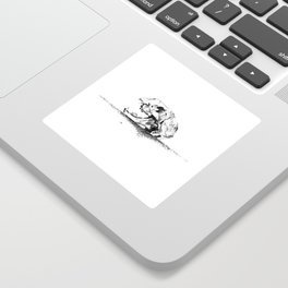 mittens - cat skull Sticker