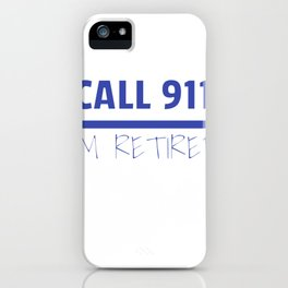 Retired Police Officer Cop Retirement Gift product iPhone Case