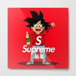 goku x supreme Metal Print