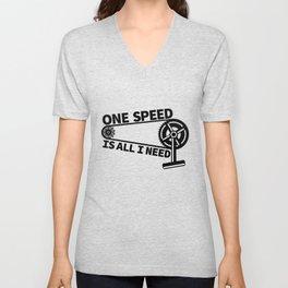 Single Speed Bike Unisex V-Neck