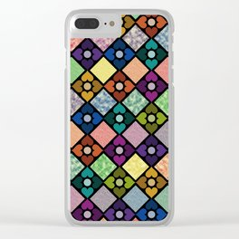 Colorful Floral Pattern IV Clear iPhone Case