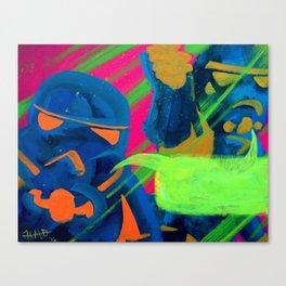Troopers (from Helmet Speak series) Canvas Print