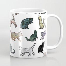 Cats shaped Marble - White Coffee Mug