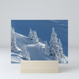 Winter Landscape with Snow Covered Trees Mini Art Print