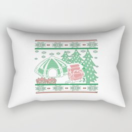 Camping Christmas Rectangular Pillow