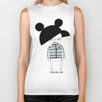 minnie Biker Tanks featuring MINNIE ME by Manola  Argento