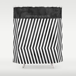 On Earth as in Heaven Shower Curtain
