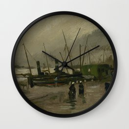 The De Ruijterkade in Amsterdam Wall Clock