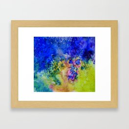 the conglomerate of color Framed Art Print