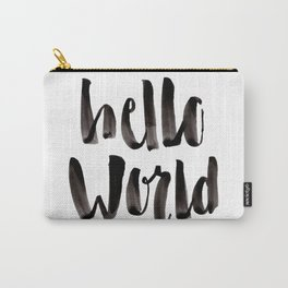 Hello World - Hand Lettering Carry-All Pouch