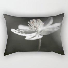 White Anemone Flower in Black And White #decor #society6 #buyart Rectangular Pillow