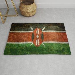 National flag of Kenya -Vintage version, to scale Rug