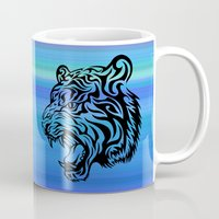 fierce Mugs featuring Fierce Tiger by MaNia Creations