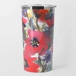 Big Poppy Field Travel Mug