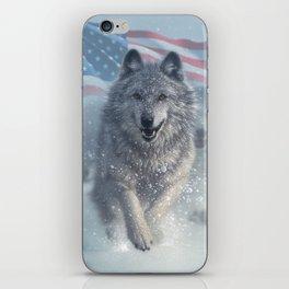 Running Wolves America iPhone Skin