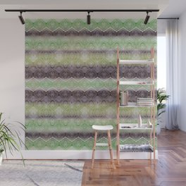 paisley ribbon in lime Wall Mural