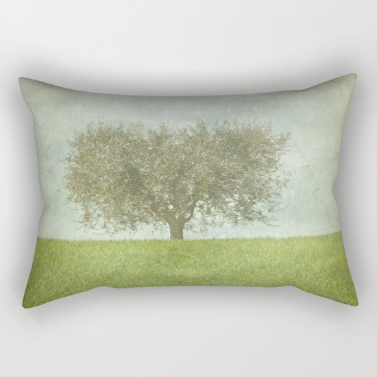 The Lone Olive Tree Rectangular Pillow