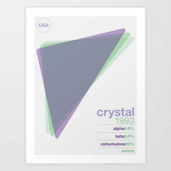 crystal single hop Art Print