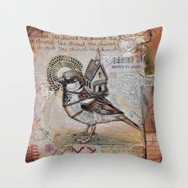 Church Bird Throw Pillow