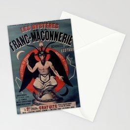 Old sign / Les Mystères de la franc-maçonnerie Stationery Cards