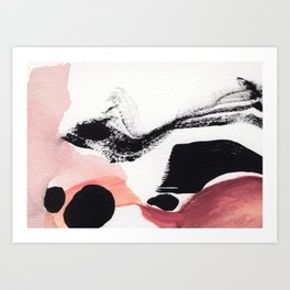 Blush Abstract Art Art Print
