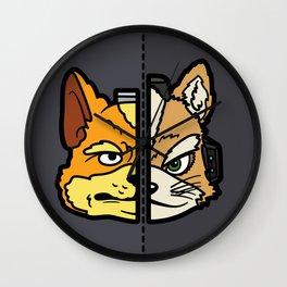Old & New Fox McCloud Wall Clock