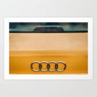 audi Art Prints featuring Audi S4 rings by JPapagoda
