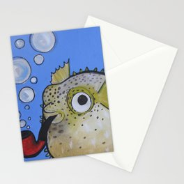 Puffer Fish Stationery Cards