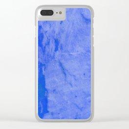 Blue Crush Clear iPhone Case