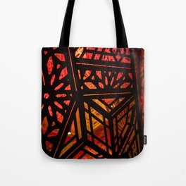 Abstract Red Light Exhibit Tote Bag