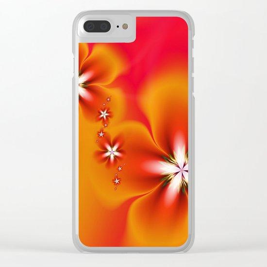 Fleur d'Automne Fractal Clear iPhone Case
