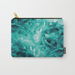 Turquoise Peonies Dream #1 #floral #decor #art #society6 Carry-All Pouch