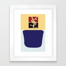 YSL nail polish  Framed Art Print