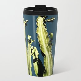 Cactus - blue Metal Travel Mug