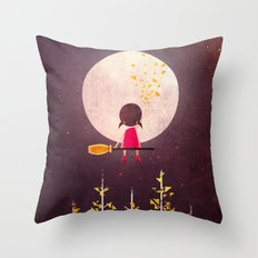 A Little Night Wanderer Throw Pillow