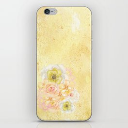 Yellow Floral Watercolor iPhone Skin