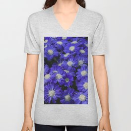 Cineraria Blue Unisex V-Neck