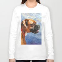 boxer Long Sleeve T-shirts featuring Boxer by Good Artitude