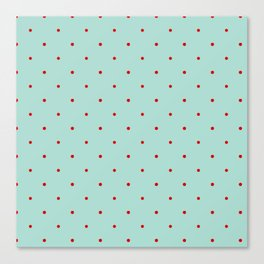 Blue with Red Dots Canvas Print