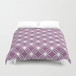 Abstract Circle Dots Purple Duvet Cover