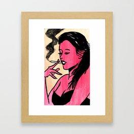 Strawberry Milk Framed Art Print