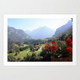 Postcard from Switzerland Art Print