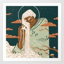 Mother Earth Goddess | Alex Gold Studios Art Print