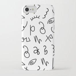 Secret Lettering iPhone Case