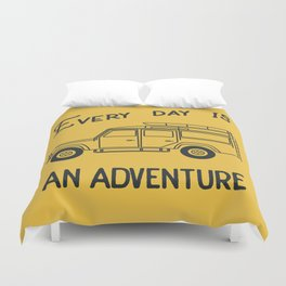 Every day is an adventure, land rover Duvet Cover